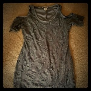 Grey lace  off shoulder ish type dress